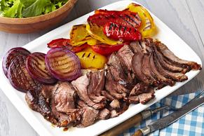 Bifteck de style ranch aux poivrons et aux oignons grillés