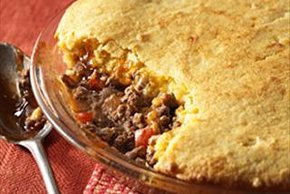 BBQ Beef-Cornbread  Pie