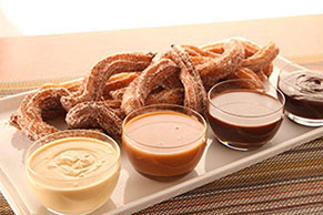 Homemade Churros with Dipping Sauce