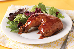 BBQ-Jelly Glazed Chicken