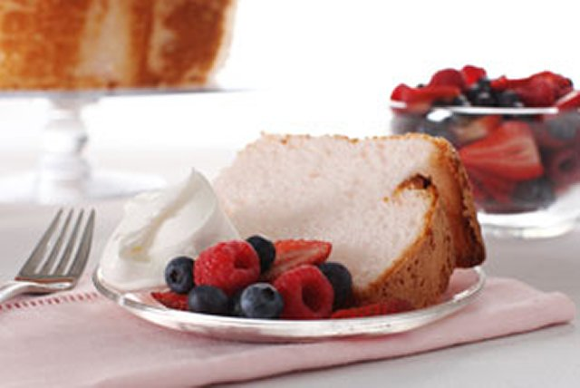 Pink Angel Food Cake Image 1