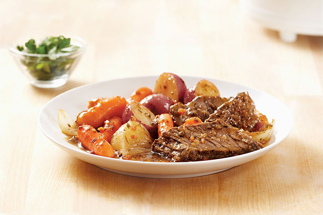 New England Beef Roast in Slow Cooker Image 1