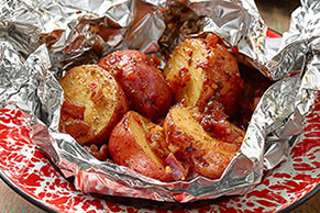 Potato-Bacon Parcels