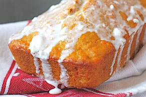 Wholesome Carrot Bread with Cream Cheese Glaze