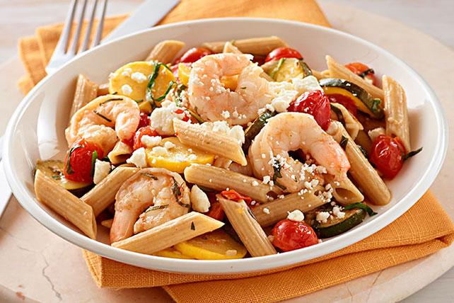 Mediterranean Shrimp & Pasta Toss Image 1