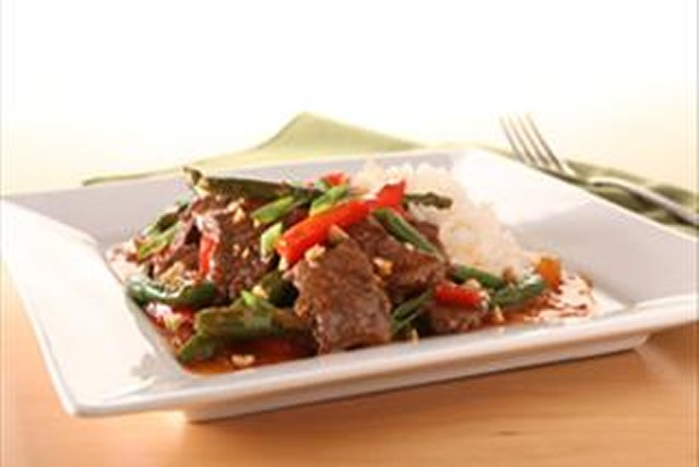 KRAFT RECIPE MAKERS Asian-Style Chili Steak & String Beans Image 1