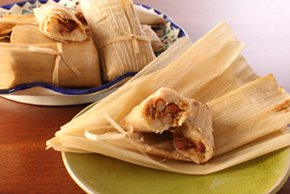 BBQ Chicken and Bean Tamales