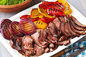 Rancher's Steak with Grilled Peppers & Onions
