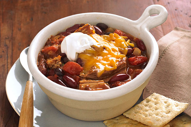 Smart-Choice Pulled Pork Chili