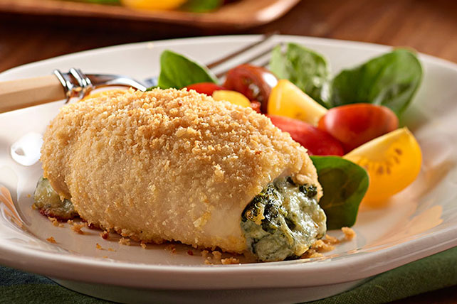 Spinach-Stuffed Chicken Bundles