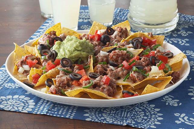 Smart-Choice Cheesy Beef Nachos Image 1