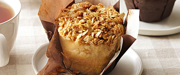 Apple-Peanut Butter Streusel Muffins