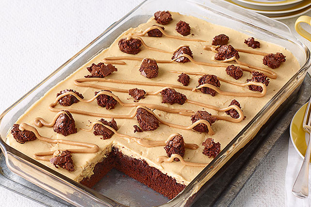 Peanut butter poke cake brownies kraft recipes peanut butter poke cake brownies forumfinder Image collections