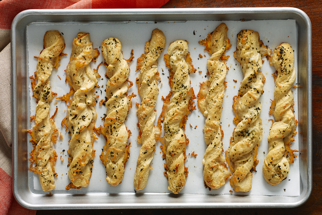Cheesy Garlic & Herb Twists Image 1