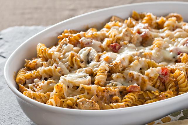 Casserole de pâtes, de poulet et de champignons Image 1
