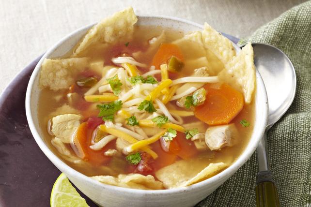Soupe au poulet et aux croustilles tortillas à la mijoteuse Image 1