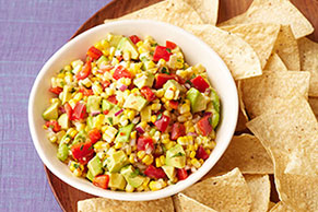 Fresh Corn & Avocado Salsa