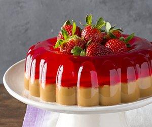 Dulce de Leche & Strawberry Gelatin Dessert
