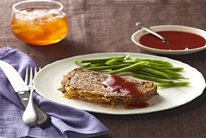 Apple Meatloaf with Cider Ketchup