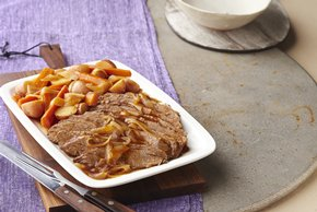 Slow-Cooker Barbecue Beef Brisket