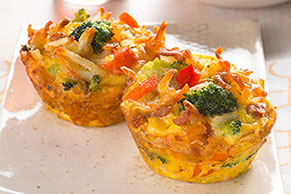 Cheesy Egg and Veggie Cups