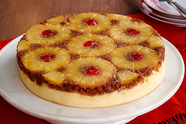 Pineapple Upside-Down Cheesecake Image 1