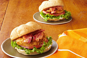 Crispy Chicken Club Sandwiches