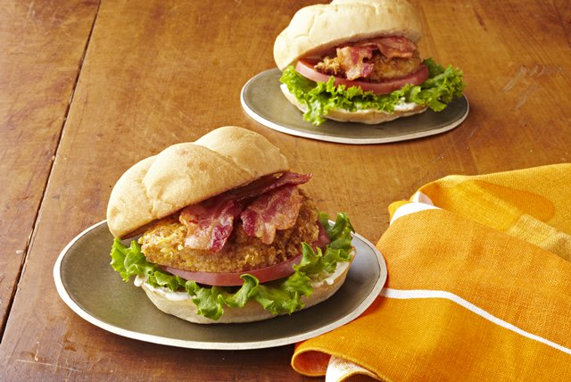 Crispy Chicken Club Sandwiches Image 1