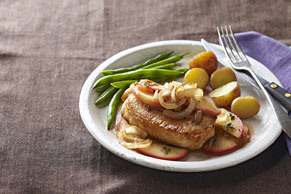 Pork Chops with Apples & Onions