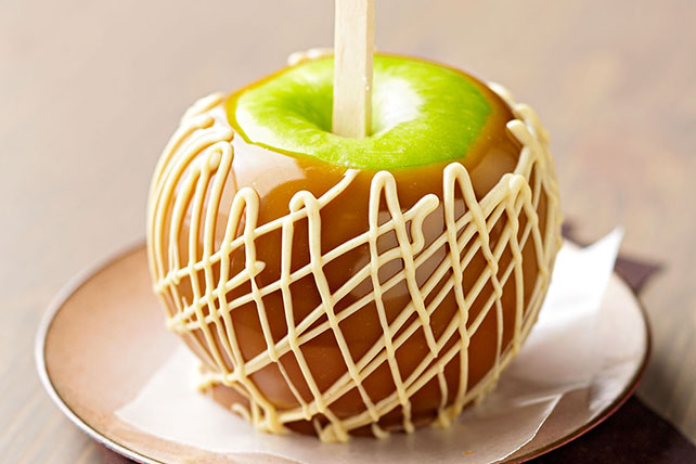 Peanut Butter-Swirl Caramel Apples