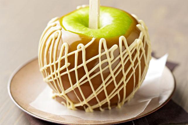 Peanut Butter-Swirl Caramel Apples Image 1
