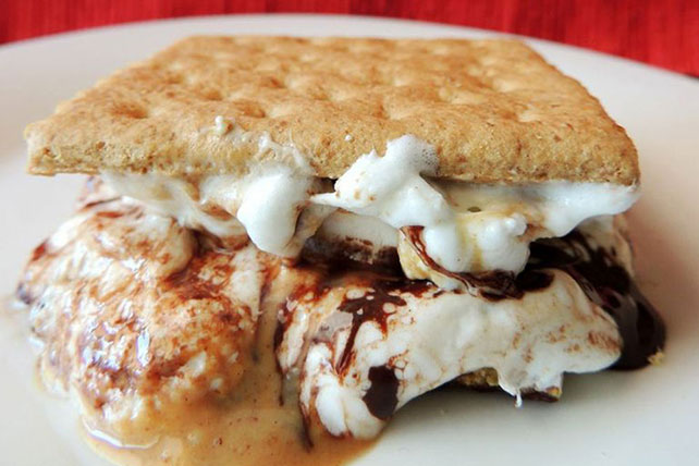 Chocolate Peanut Butter Indoor S'mores