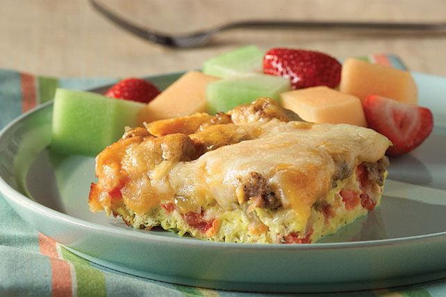 Cheesy Egg & Sausage Brunch Bake