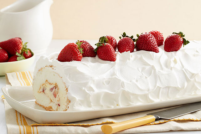 Heavenly Strawberry Roll Image 1