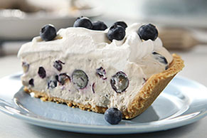 Easy Blueberry Yogurt Cream Pie