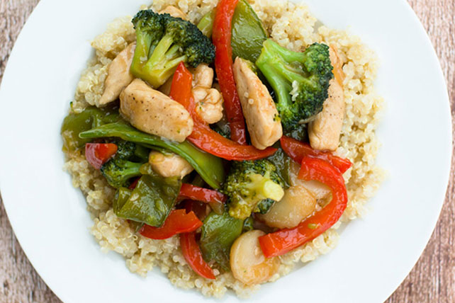 Chicken Stir-Fry over Quinoa Image 1