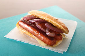 Seared Sausage Pepper Jack Sandwich