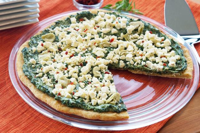 Pizza aux épinards et aux artichauts Image 1