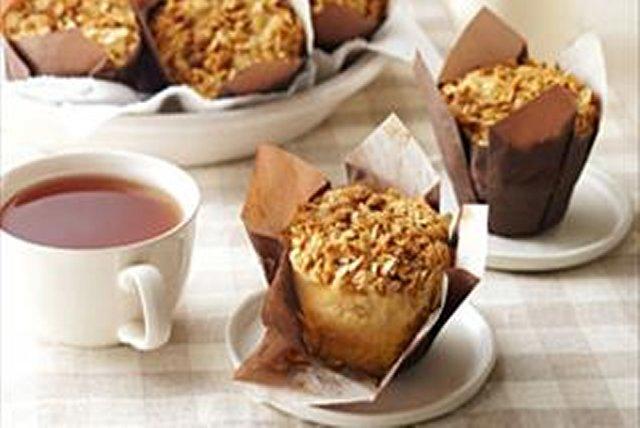 Muffins pommes, beurre d'arachide et garniture streusel Image 1