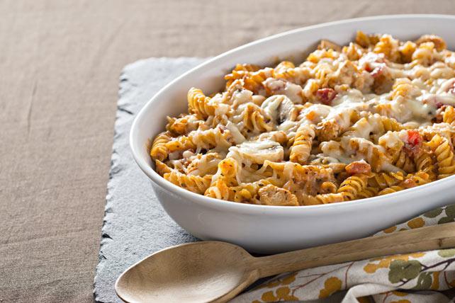 Creamy Chicken, Mushroom & Pasta Bake Image 1