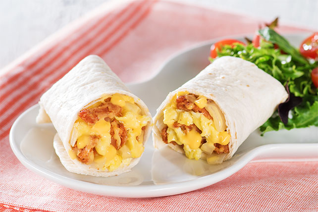 Cream Cheese & Chorizo Brunch Burritos