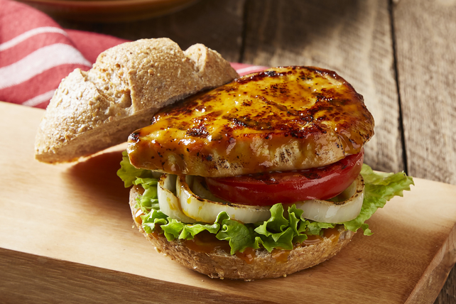 25-Minute Grilled BBQ Pork Chop Sandwiches Image 1
