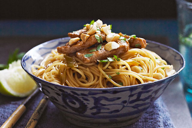 Thai Peanut Butter Pork & Pasta Bowl Image 1
