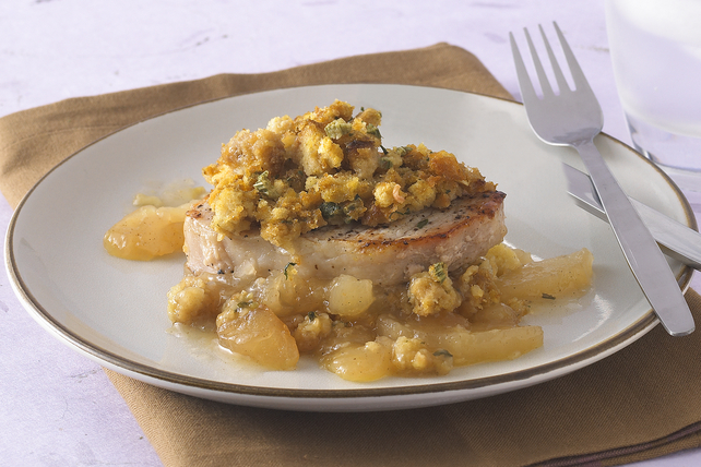 Pork Chops with Apples & Stuffing Image 1