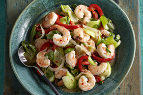 Shrimp & Bok Choy Stir-Fry
