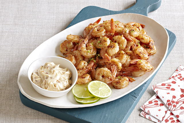 Shrimp with Chili-Lime Mayo