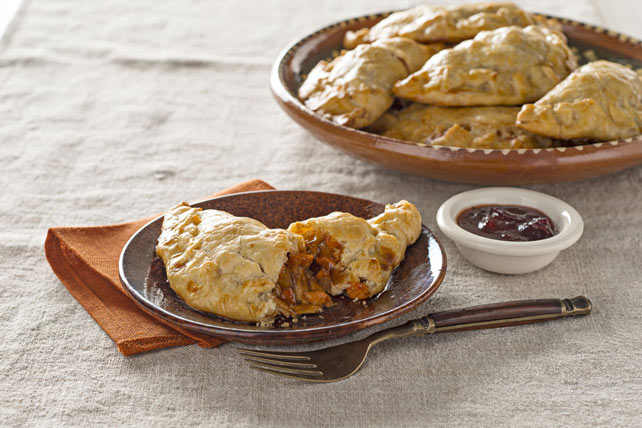 Turkey Empanadas with BBQ-Cranberry Sauce Image 1