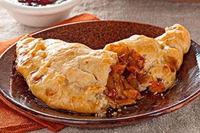 Empanadas de pavo con salsa BBQ y arándanos