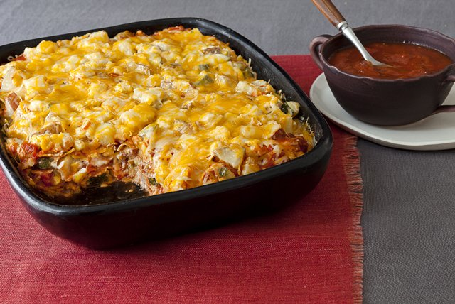 Layered Vegetable Tortilla  Casserole Image 1