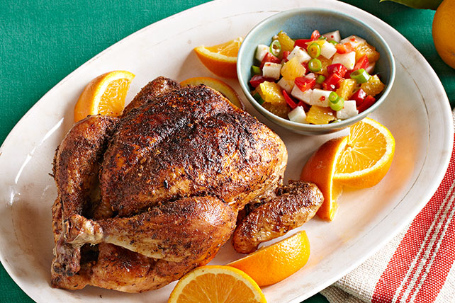 Pollo adobado a la naranja con salsa de jícama Image 1